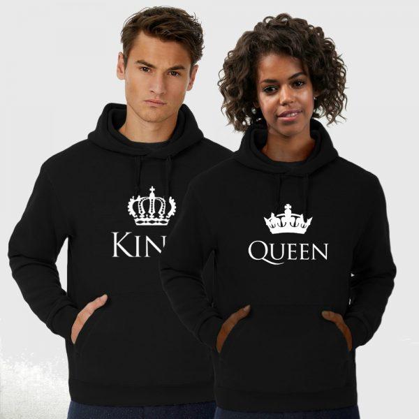 King Queen hoodie trui Crown