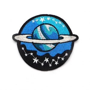 Space Patch Planeet Blauw